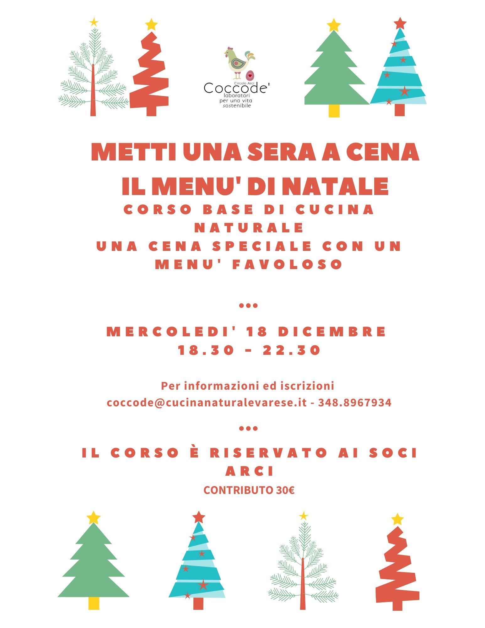 il menu' di Natale corso a Venegono